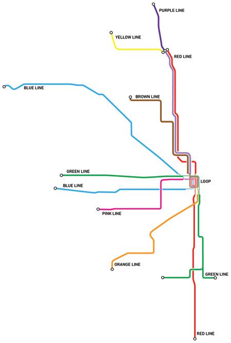 CTA Eddie Bs Blog - Chicago brown line map